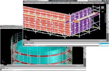 Professional software to Design and Estimate Scaffolding and Formworks